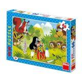 Papírové puzzle 66 dílků Krtek s koláčem