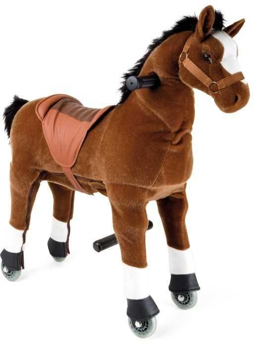 Dřevěné hračky Small Foot Pohyblivý dětský jezdecký kůň hříbě na kolečkách Small foot by Legler