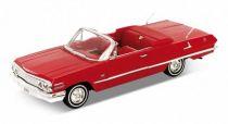 Welly - Chevrolet Impala 1963 cabriolet 1:24 červený