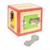 Dřevěné hračky Bigjigs Toys Dřevěná skříňka se zámky