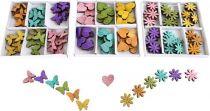 Dětské dřevěné dekorace - Barevní motýlci