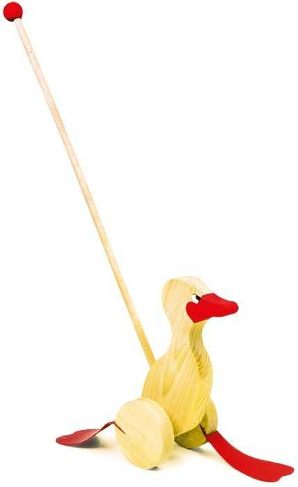 Dřevěné hračky Dřevěné hračky - Tahací hračky - Jezdík kačenka Small foot by Legler