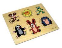 Dřevěné vkládací puzzle Krteček a kamarádi