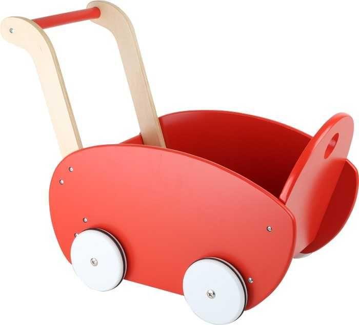 Dřevěné hračky Small Foot Dřevěný kočárek pro panenky červený Small foot by Legler