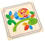 HAPE dřevěné hračky - vytvoř si vlastní obrázek - šnek