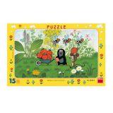 Papírové puzzle 15 dílků Krtek na výletě