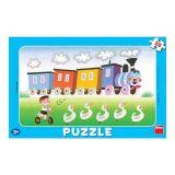 Papírové puzzle 15 dílků velká mašinka