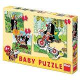 Papírové puzzle 2-5 dílků Krtek na louce