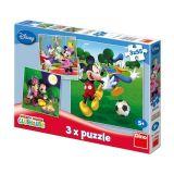 Papírové puzzle 3x55 dílků MICKEY MOUSE