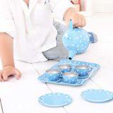 Dřevěné hračky Bigjigs Toys Modrý puntikovaný čajový set