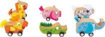 Small Foot Dřevěné auta zvířátka 1 ks