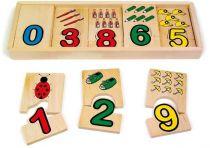 Dřevěné hračky - Čísla - Přiřazení čísel