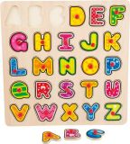 Small Foot Dřevěné hračky vkládací puzzle abeceda