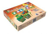 Dřevěné obrázkové kostky - Pohádkové kostky - 20 kostek