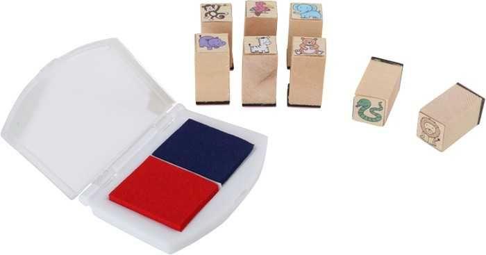 Dřevěné hračky Dřevěné výtvarné hračky - Set razítek Zvířata v ZOO Small foot by Legler