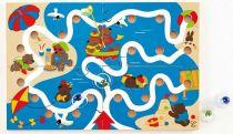 HAPE dřevěné hračky - dřevěná motorická hra bludiště