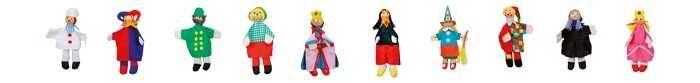 Dřevěné hračky Small Foot Maňásci z textilu Sada 10 ks Small foot by Legler