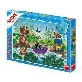 Papírové puzzle 100 XL dílků Krtek a plavba