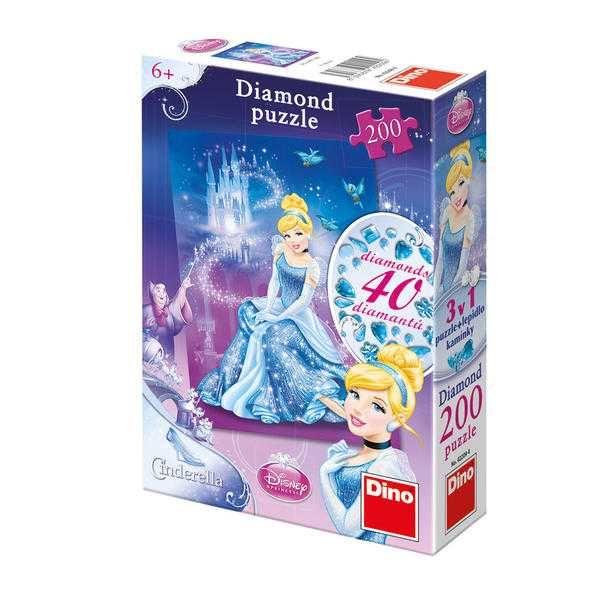 Dřevěné hračky Papírové puzzle 200 dílků POPELKA Dino