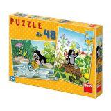 Dino Papírové puzzle Krteček 2x48 dílků
