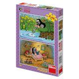 Papírové puzzle 2x48 dílků Krtek a perla