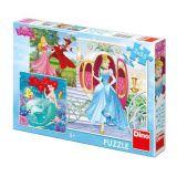 Dino Papírové puzzle já jsem princezna 3x55 dílků