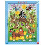 Dino Papírové puzzle Krtek a velikonoce 40 dílků
