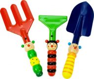 Dřevěné hračky Bigjigs Toys Set zahradního nářadí