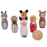 Dřevěné hračky Bigjigs Toys Dřevěné kuželky Noemova archa