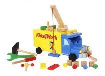 Small Foot Dřevěné auto s nářadím nákladní vůz Kids@work