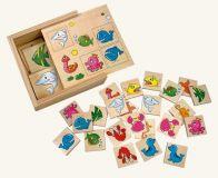 Dřevěné hračky Bino Dřevěné hry pexeso vodní svět
