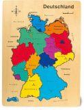 Dřevěné hračky - Vkládací puzzle - Puzzle Německo