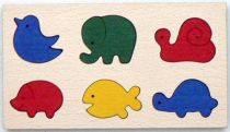 Dřevěné hračky - vkládací puzzle - Vkládací zvířátka