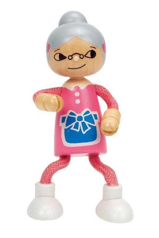 Dřevěné hračky HAPE dřevěné hračky - dřevěná postavička babička
