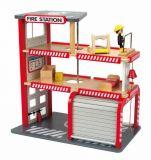 HAPE dřevěné hračky - dřevěná vícepatrová požární stanice