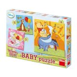 Dino Papírové puzzle Medvídek PÚ 2-5 dílků