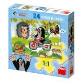 Papírové puzzle 24 dílků maxi Krteček