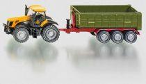 Traktor JCB Fasttrac 8250 s kontejnerovým přívěsem, 1:87