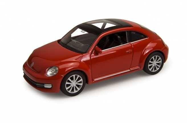 Dřevěné hračky Welly - Volkswagen The Beetle 1:34 červený