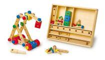 Dřevěné hračky - Dřevěná stavebnice konstrukční sada 84kusů