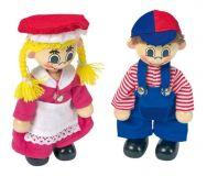 Dřevěné hračky Small Foot Šatník pro panenky + 2 panenky Small foot by Legler