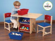 KidKraft  Stůl Star se dvěma židličkami a boxy