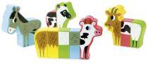 Dřevěné hračky Vilac Dřevěné puzzle Veselá farma