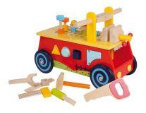 Dřevěné hračky Small Foot Motorický vozík pracovní stůl Poškozená krabička Small foot by Legler