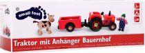 Dřevěné hračky Small Foot Dřevěný farmářský tahací traktor Small foot by Legler