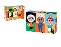 Dřevěné hračky Vilac Zábavné dřevěné kostky postavičky
