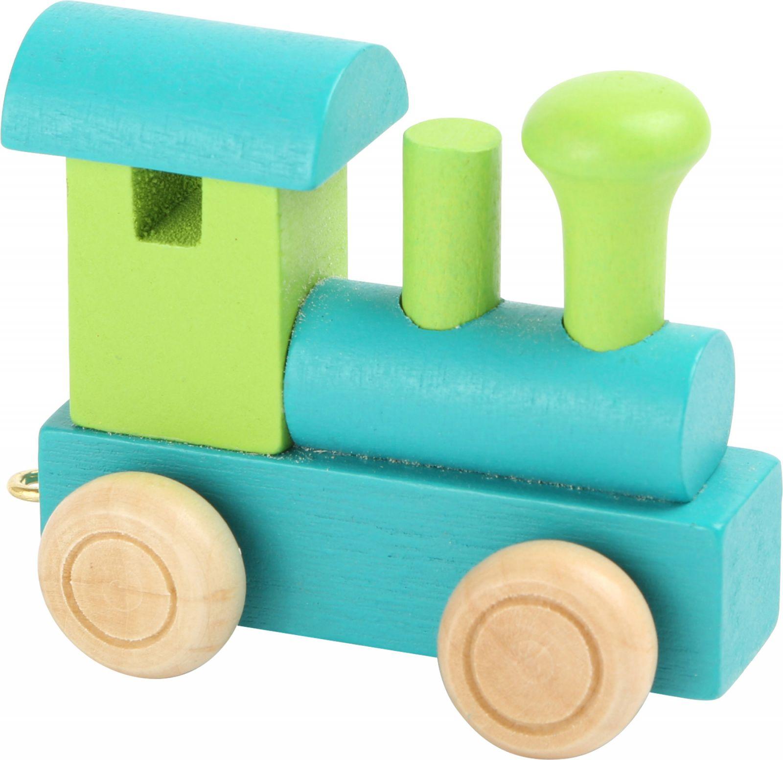 Dřevěné hračky Vláčkodráha - Vláček abeceda - Lokomotiva zelená Small foot by Legler