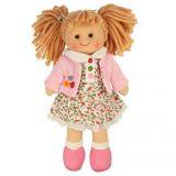 Dřevěné hračky Bigjigs Toys Látková panenka Poppy 28 cm