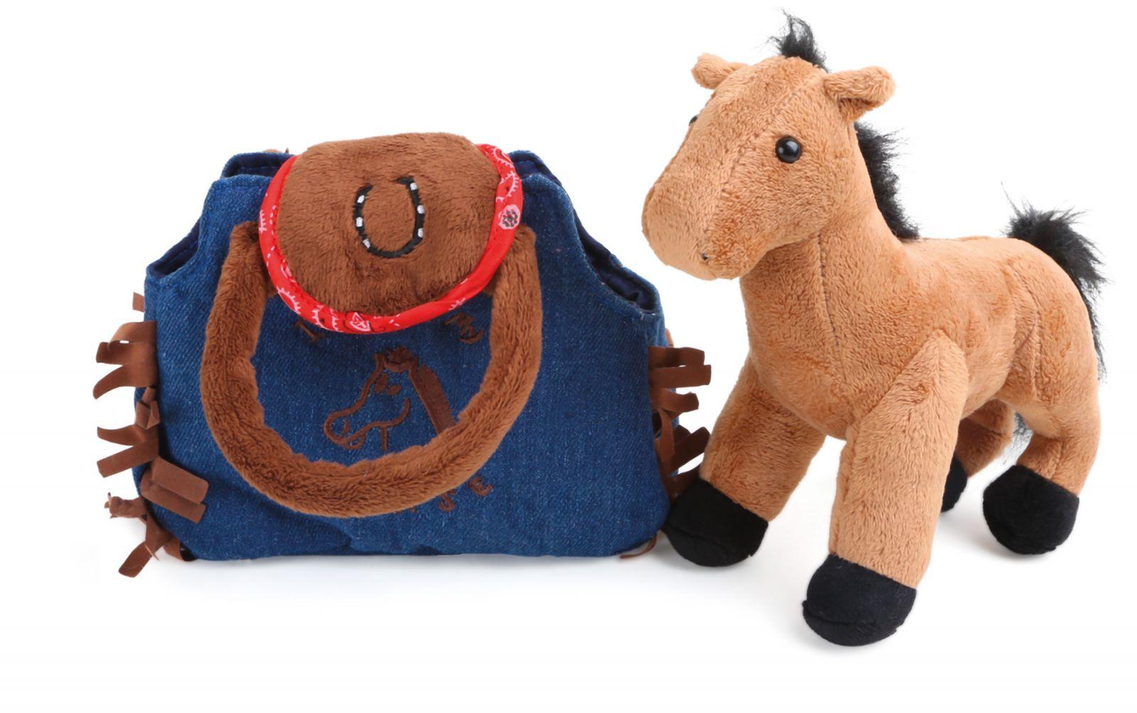 Dřevěné hračky Small Foot Dětská kabelka koník v kabelce Western Small foot by Legler