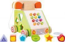 Dřevěná motorická hra - Tahací telefon